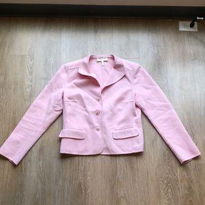 Escada 40 / 10 pink rabbit blend cashmere blazer
